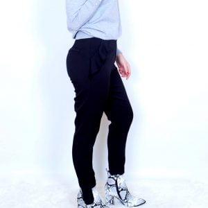 pantalon volantes negro
