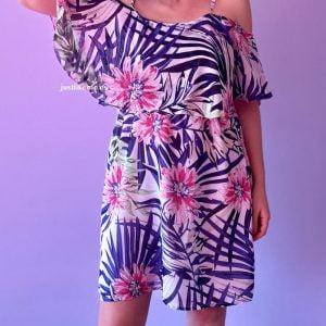 vestido corto palmeras