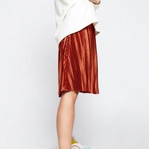 falda plisada teja