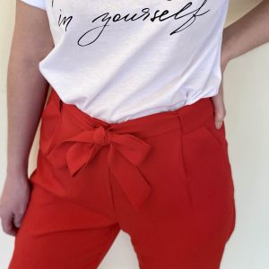 pantalon lazada rojo