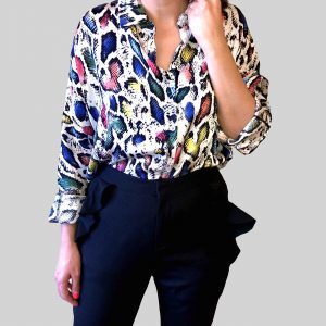 camisa animal print color