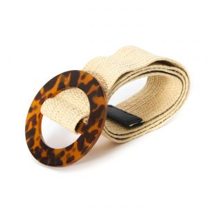 cinturon hebilla animal print