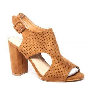zapato marrón tacón ancho