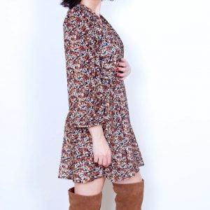 vestido estampado terciopelo
