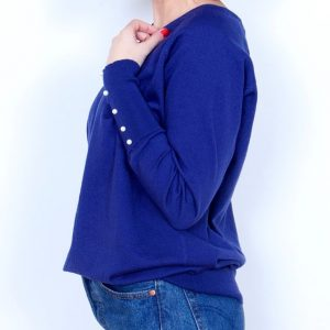 jersey perlas azul marino