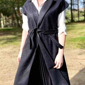 chaleco abrigo negro