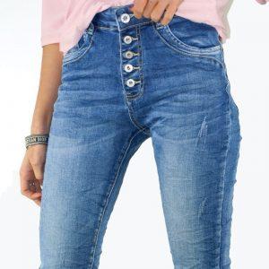 pantalon vaquero elastico botones