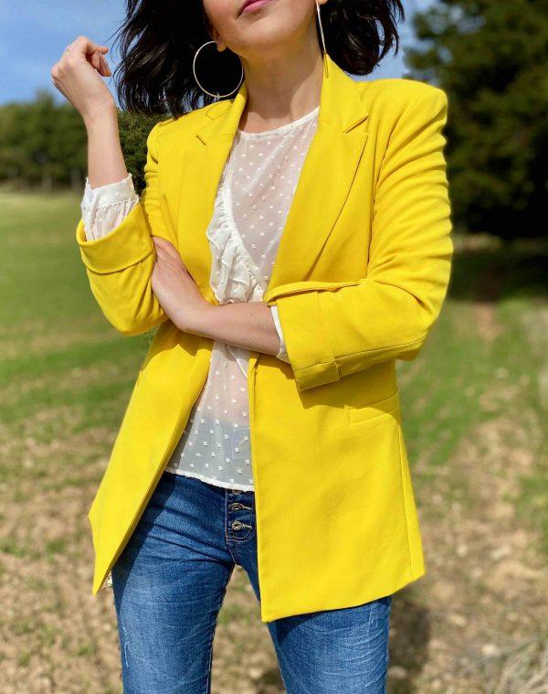 blazer amarilla