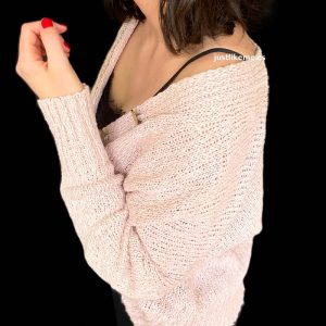 chaqueta algodon rosa