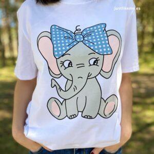 camiseta elefante doble estampado